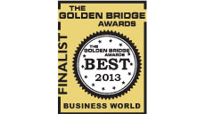 Solver recognized as a finalist in the Annual 2013 Golden Bridge Awards
